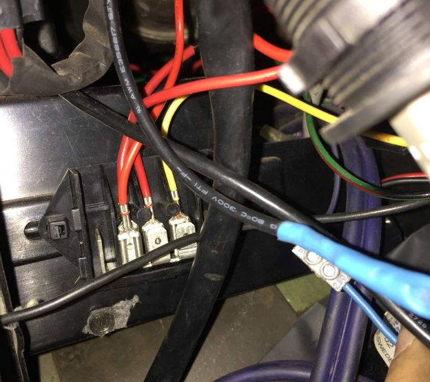 Power junction box inside
